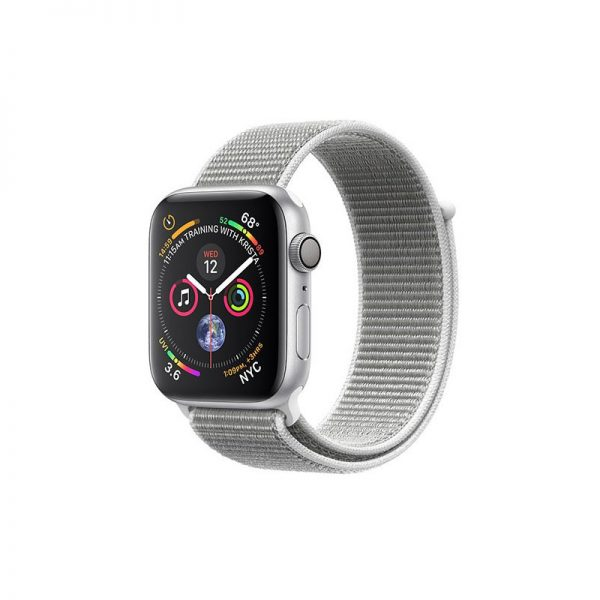 ساعت مچی هوشمند اپل مدل اسپورت - Apple Watch Silver Aluminum Case Seashell Sport Loop Band