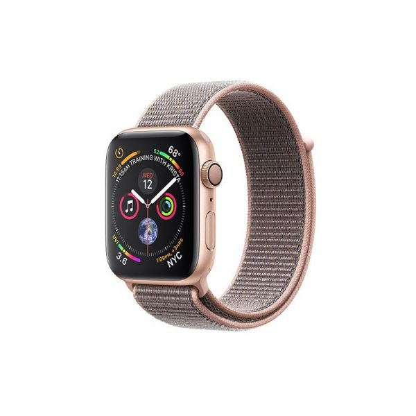 ساعت مچی هوشمند اپل مدل اسپورت - Apple Watch Gold Aluminum Case Pink Sand Sport Loop Band