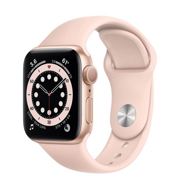 اپل واچ سری ۶ آلومینیوم طلایی با بند اسپرت (Apple Watch 6 Series)
