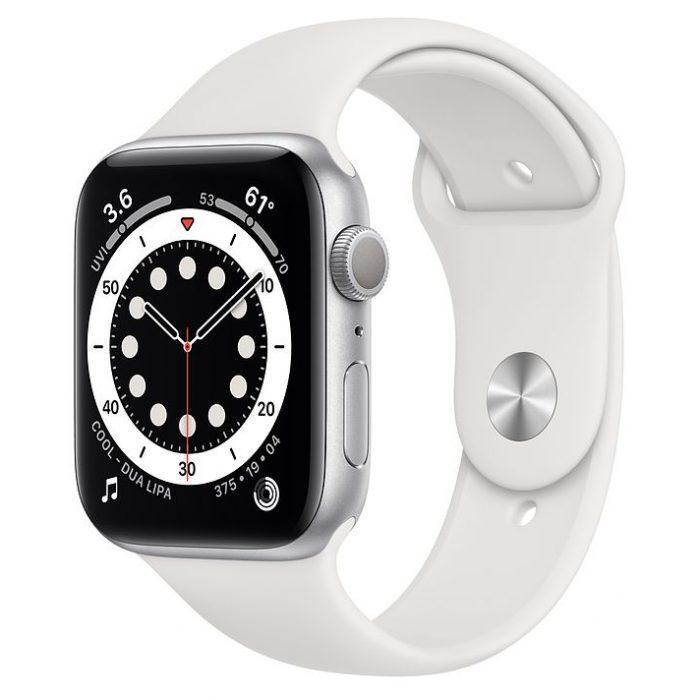 اپل واچ سری ۶ آلومینیوم نقره ای با بند اسپرت (Apple Watch 6 Series)