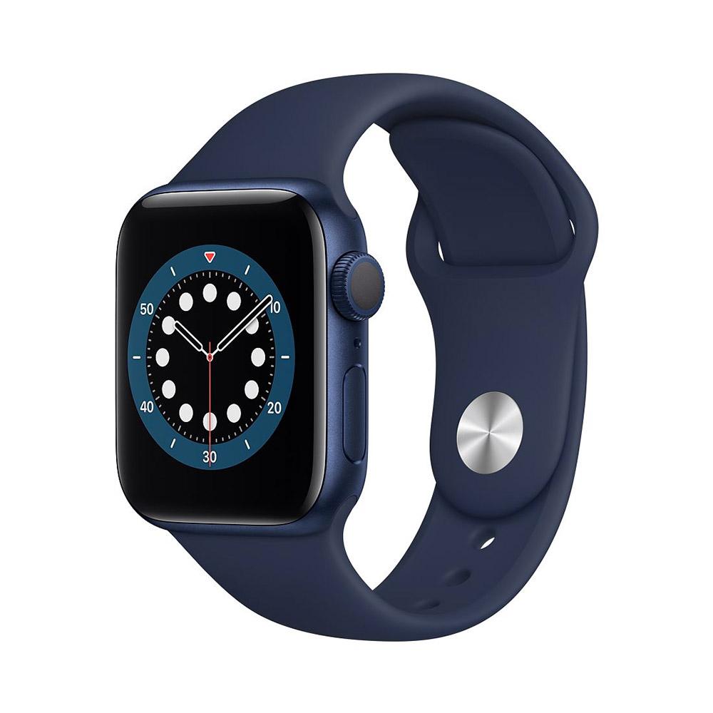 اپل واچ سری ۶ رنگ آبی با بند اسپورت آبی