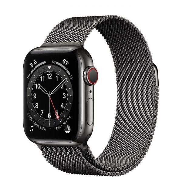 اپل واچ سری ۶ استیل با بند میلانس