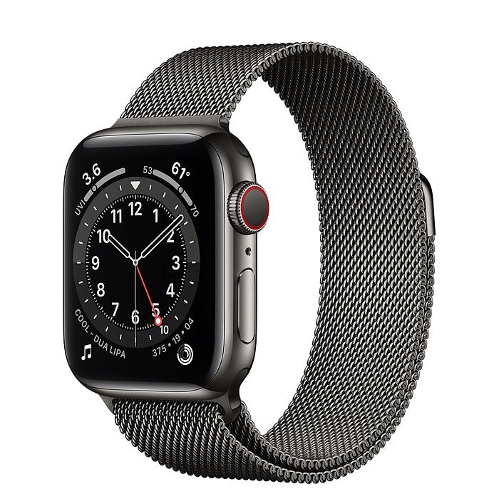 اپل واچ سری ۶ استیل مشکی با بند میلانس لوپ (Apple Watch 6 Series)