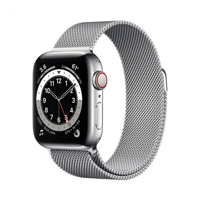 اپل واچ سری ۶ استیل نقره ای با بند میلانس لوپ (Apple Watch 6 Series)