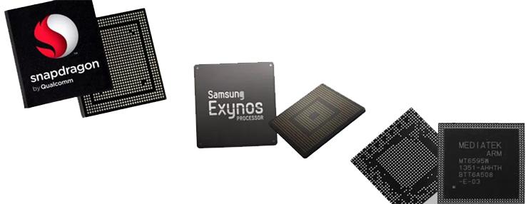 سری مختف پردازندههای گوشی