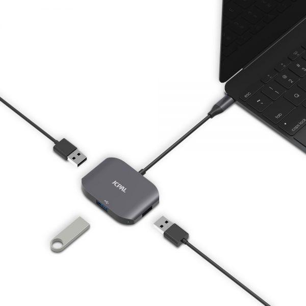 هاب 3 پورت USB-C جی سی پال